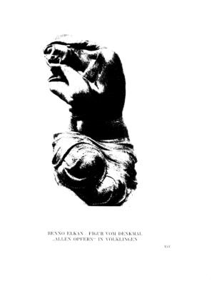 "Figur vom Denkmal ""Allen Opfern"" in Völklingen : (Plastik) (Menorah)"