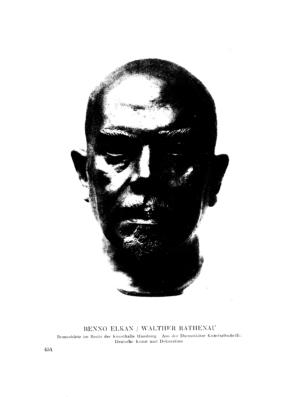 Walther Rathenau : Bronzebüste im Besitz der Kunsthalle Hamburg (Menorah)