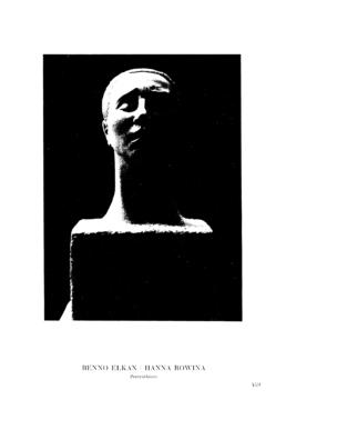 Hanna Rowina : Porträtbüste (Menorah)