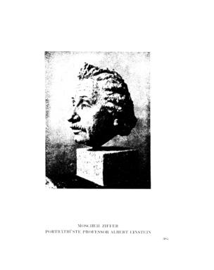 Porträtbüste Professor Albert Einstein (Menorah)