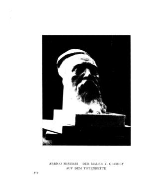 Der Maler V. Grubicy auf dem Totenbette : (Totenmaske) (Menorah)