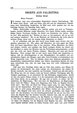 Briefe aus Palästina (Der Jude <Berlin>)