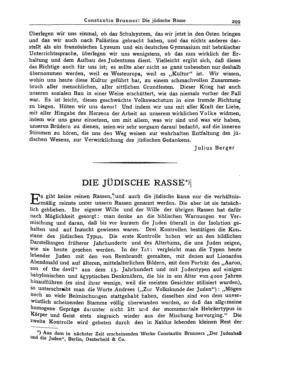 Die jüdische Rasse (Der Jude <Berlin>)