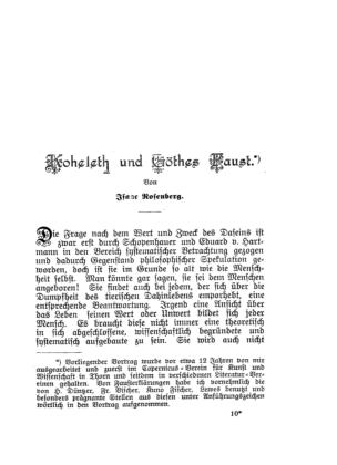 Kohelet und Göthes Faust (Jahrbuch für jüdische Geschichte und Literatur)