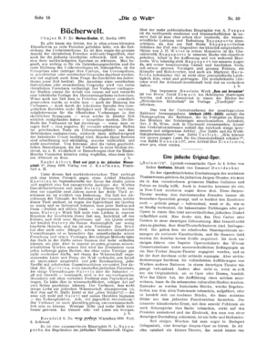 Eine jüdische Original-Oper (Die Welt)