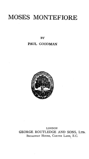 Moses Montefiore / by Paul Goodman