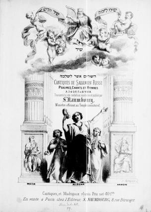 Cantiques de Salomon Rossi : chants, psaumes et hymnes à 3, 4, 5, 6, 7 et 8 voix / Transcrits en notation moderne et publiés par S. Naumbourg