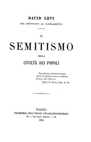 Il semitismo nella civiltà dei popoli / David Levi