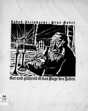 """""""Rot und glühend ist das Auge des Juden"""" : Gedichte zu 8 Radierungen von Jacob Steinhardt / Arno Nadel"""