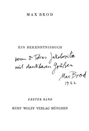 München : Wolff, 1922; In: Heidentum, Christentum, Judentum; Band 1