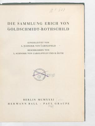 Berlin : Ball {[u. a.], 1931 [1931]; In: Die Sammlung Erich von Goldschmidt Rothschild; Band Textbd.