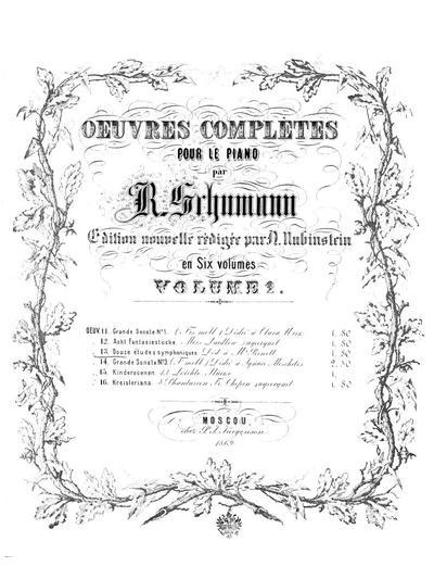 12 etudes symphoniques en forme de variations. Op. 13