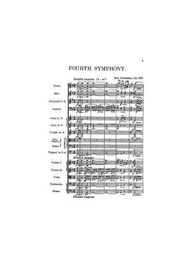 Symphonie № 4 d-moll. Op. 120
