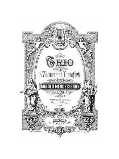 Trio für 2 Violinen und Pianoforte a-moll. Op. 76