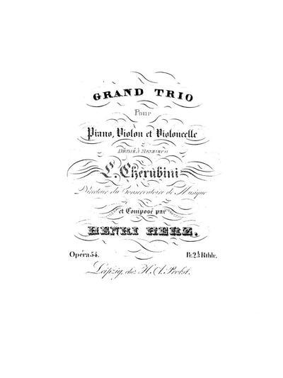Grand trio pour piano, violon et violoncelle. Op. 54