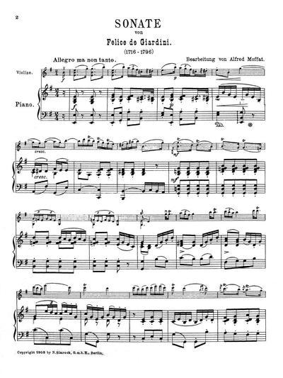 Sonate e-moll für Violine mit Klavier