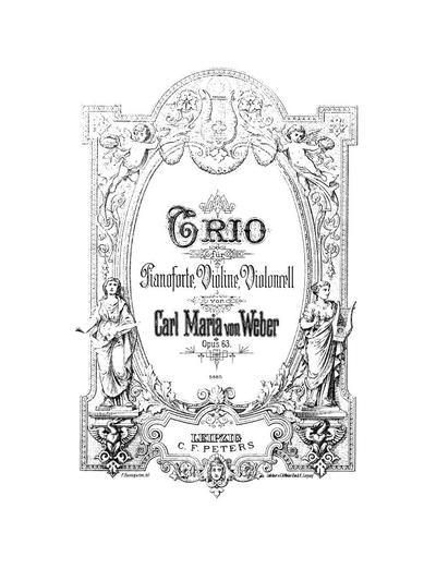 Trio für Pianoforte, Violine, Violoncell. Op.63