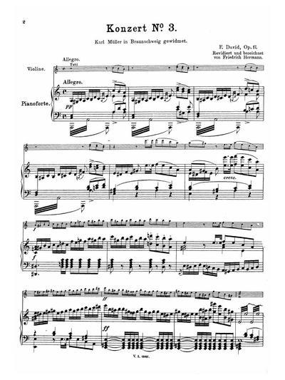 Konzert № 3 (A moll) für Violine und Pianoforte. Op. 17