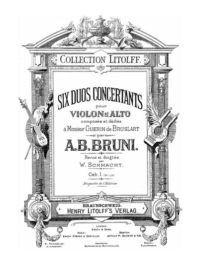 Six duos concertants pour violon et alto. Cah. 1, №№ 1-3