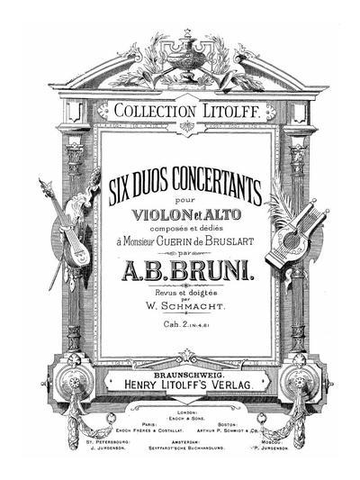 Six duos concertants pour violon et alto. Cah. 2, №№ 4-6
