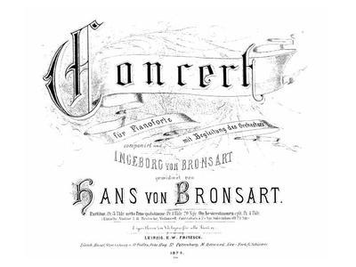 Concert fis-moll für Pianoforte mit Begleitung des Orchesters