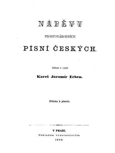 Nápĕvy prostonárodních písní českých