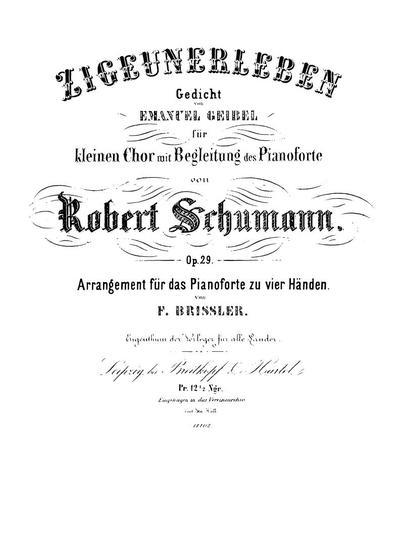 Zigeunerleben Gedicht Von Emanuel Geibel Für Kleinen Chor