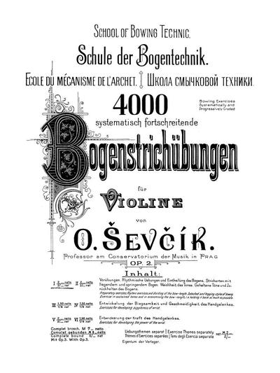 Schule der Bogentechnik. Op. 2