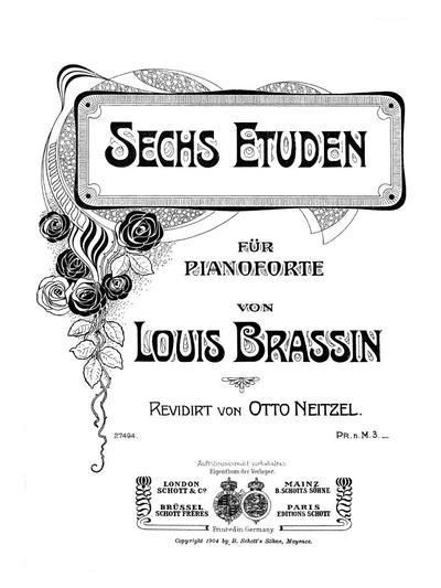 Sechs Etuden für Pianoforte. Op. 12