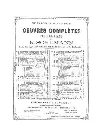 Kreisleriana. Op. 16