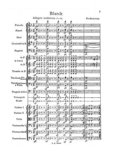 Mein Vaterland zyklus symphonischer Dichtungen - № 6 :: Blanik