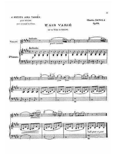 2e air varie sur un thème de Rossini. Op. 89