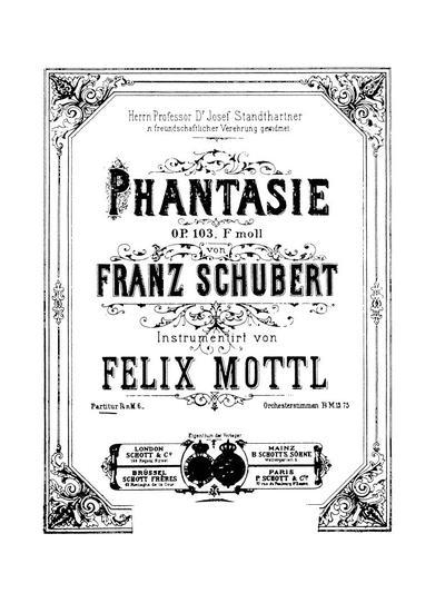 Phantasie. Op. 103, F moll