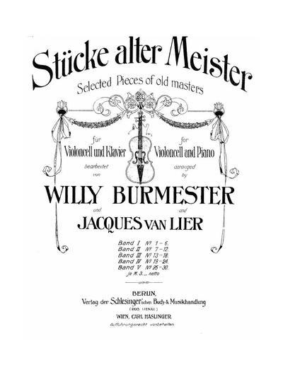 Stücke alter Meister - Bd. 4 :: № 19-24