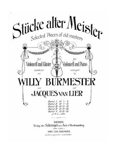 Stücke alter Meister - Bd. 2 :: № 7-12