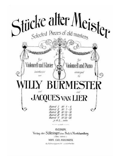 Stücke alter Meister - Bd. 3 :: № 13-18