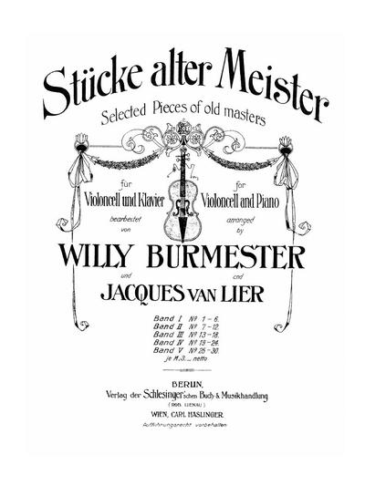 Stücke alter Meister - Bd. 1 :: № 1-6