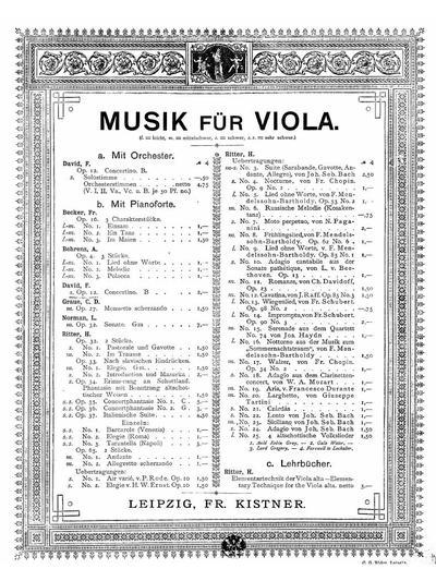 Concertino für Viola und Pianoforte. Op. 12