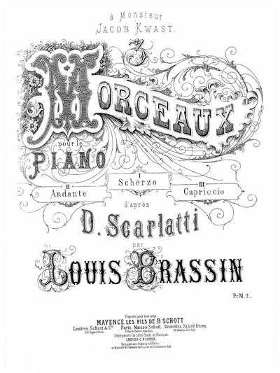 3 morceaux pour le piano d'après D. Scarlatti