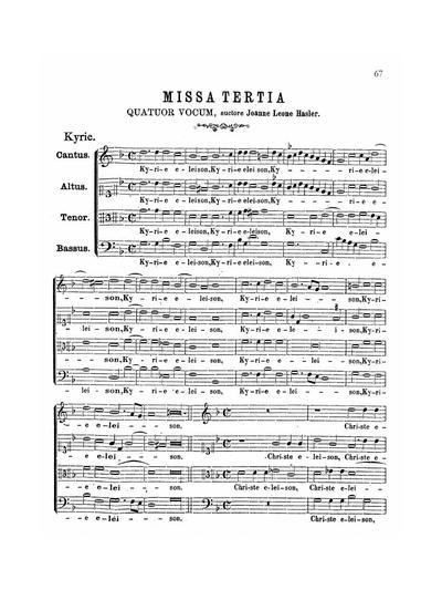 Missa tertia quatuor vocum