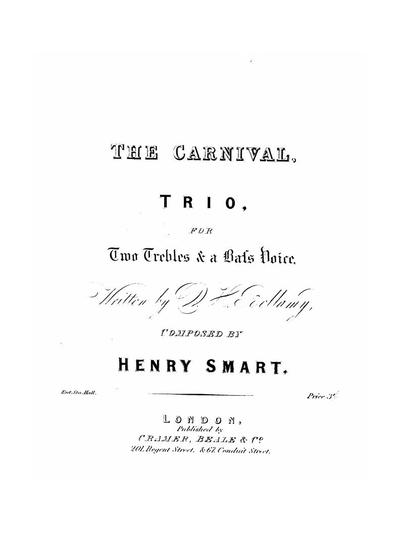 The carnival trio for 2 trebles & a bass voice with piano