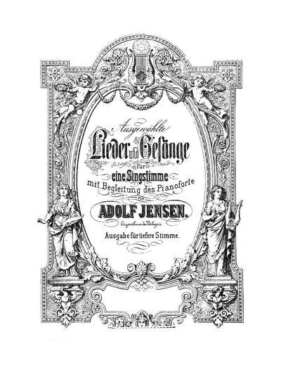 Ausgewählte Lieder und Gesänge für eine Singstimme mit Begleitung des Pianoforte : Ausg. für tiefere Stimme