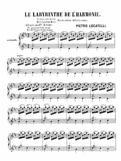 Le labyrinthe de l'harmonie pour violon solo