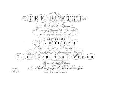 Tre duetti per due voci di soprano coll' accompagnamento di pianoforte. Op. 31