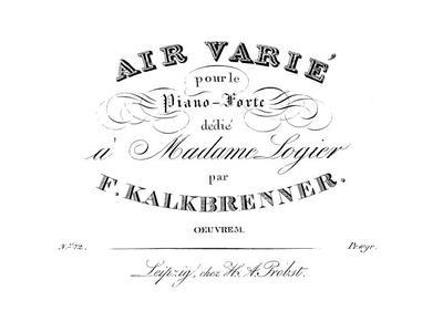 Air varié pour le piano-forte. Oeuv. 51