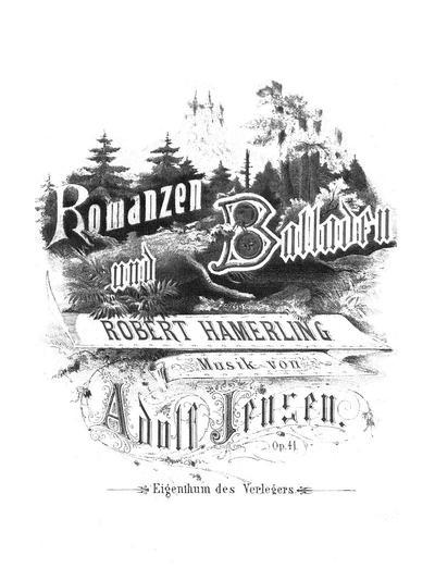 Romanzen und Balladen von Robert Hamerling. Op. 41