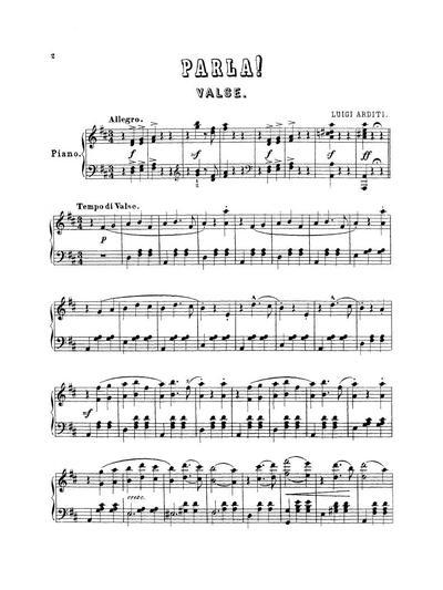 Parla ! valse pour le piano