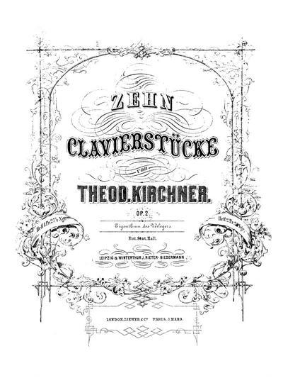 Zehn Clavierstücke. Op. 2