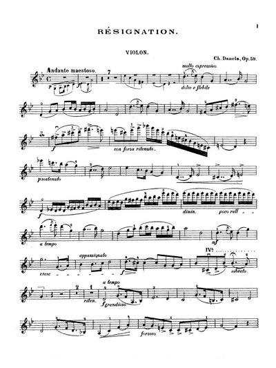 Résignation pour violon avec piano. Op. 59