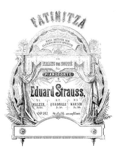 Fatinitza Walzer : nach Motiven der gleichnamigen Operette von Franz von Suppé : für Pianoforte. Op. 147